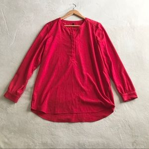 NYDJ Top/Blouse Long sleeves Red Size M